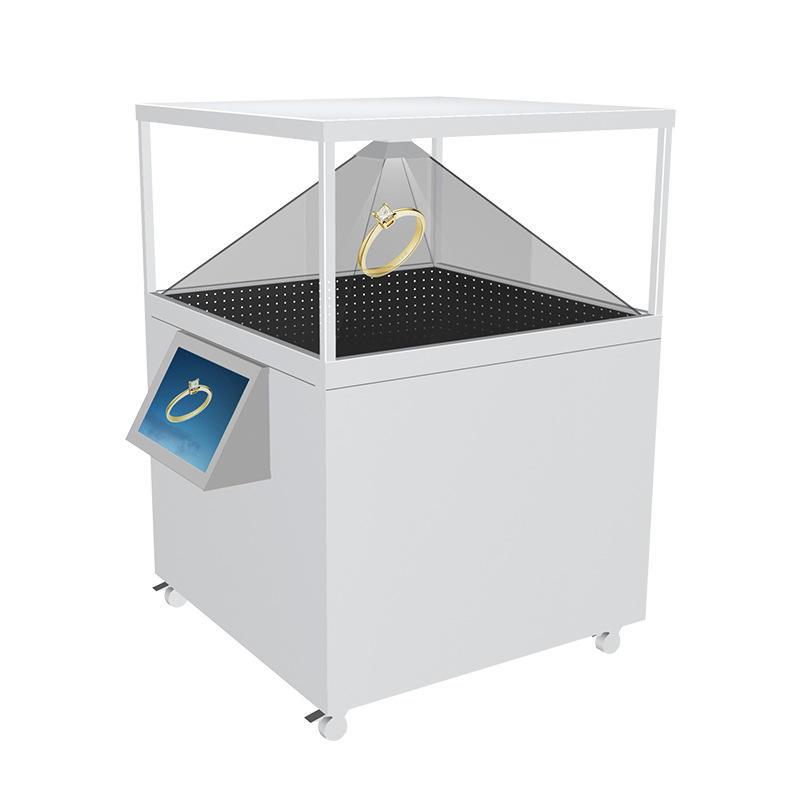 120x120cm 3D Pyramid Hologram Display Showcase full HD holographic 3D Holographic interactive totem touch screen