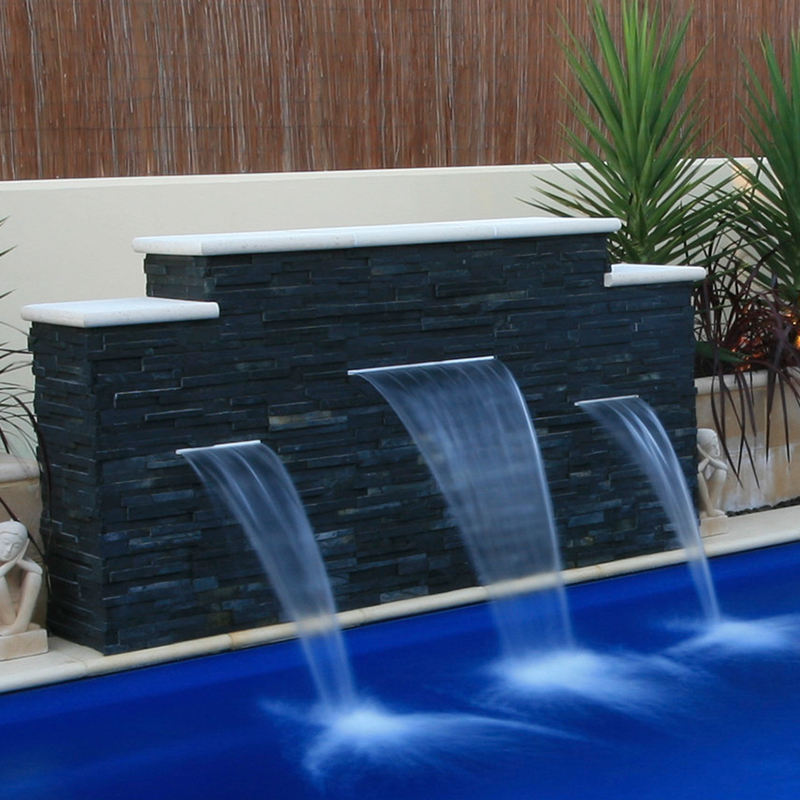 Factory acrylic waterfall blade cascade water feature spillway fountain spillways with LED