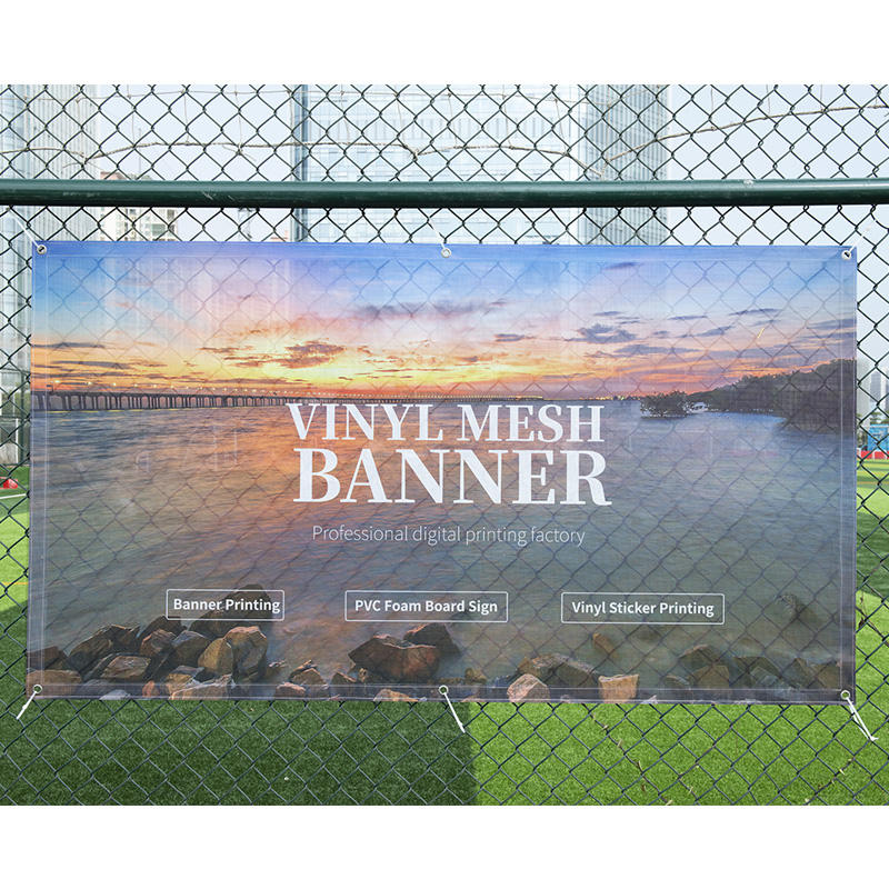Hign quality custom outdoor waterproof mesh fence banner printing pvc backdrop vinyl banner