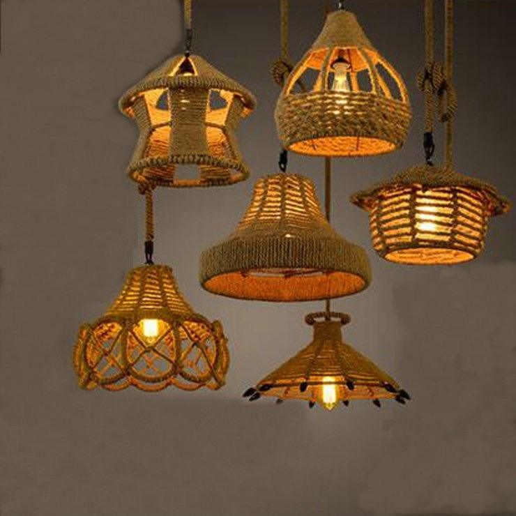 Manufacturers Selling Indoor Traditional Hemp Rope Antique Chandelier