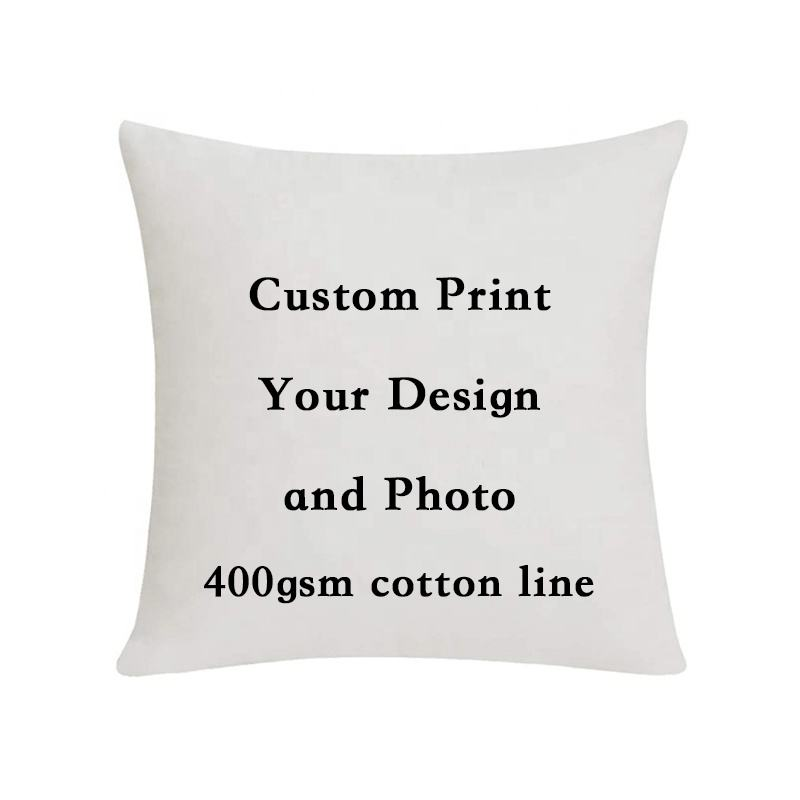 Wholesale Custom High Quality print 18X18 Inches Cotton Linen Sublimation Cushion Cover