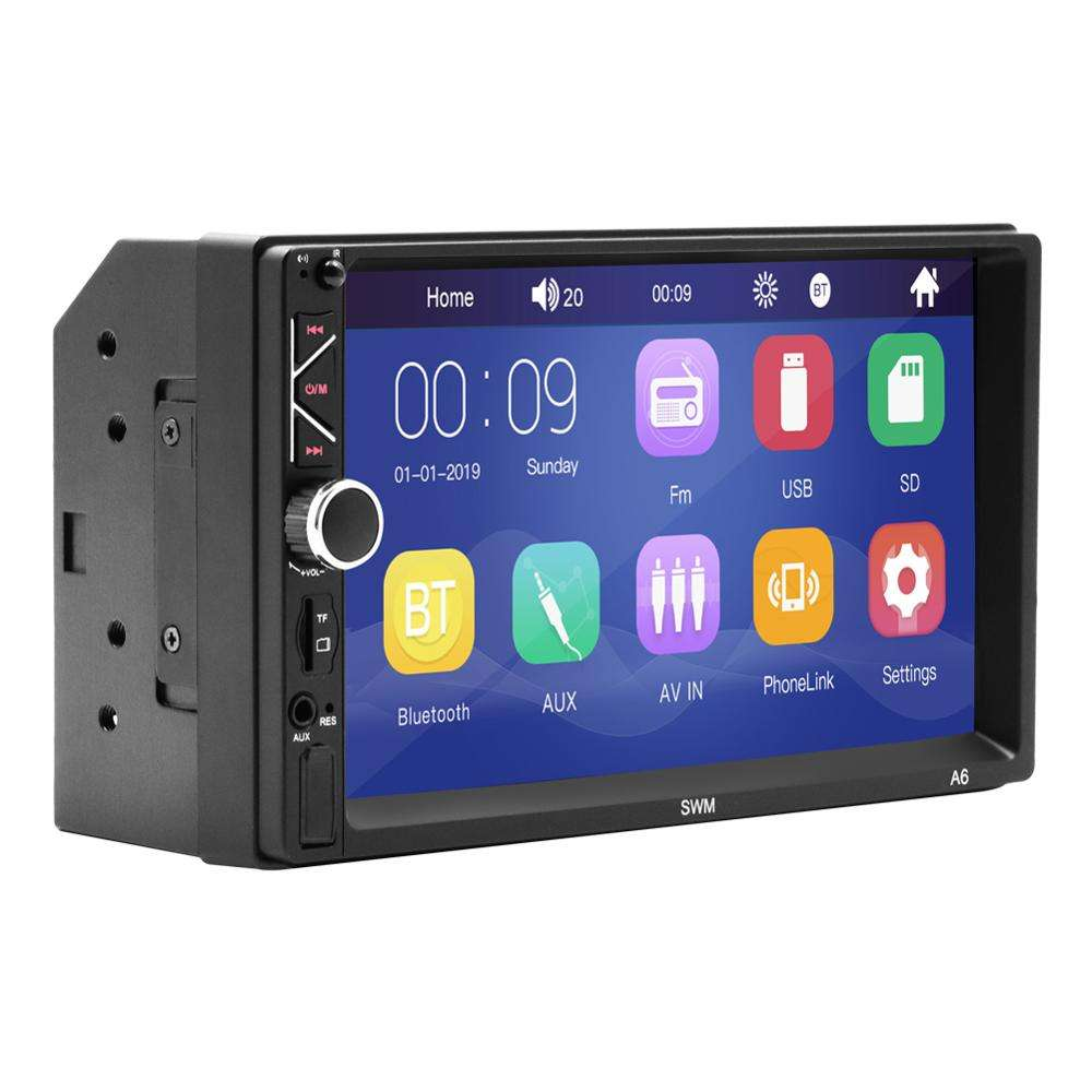"Wince 6.0 Two DIN 7""LCD-TFT touch screen with gps navigation cheap car DVD Mp3/Mp4/Mp5 player for Audi A6 SEAT EXEO"