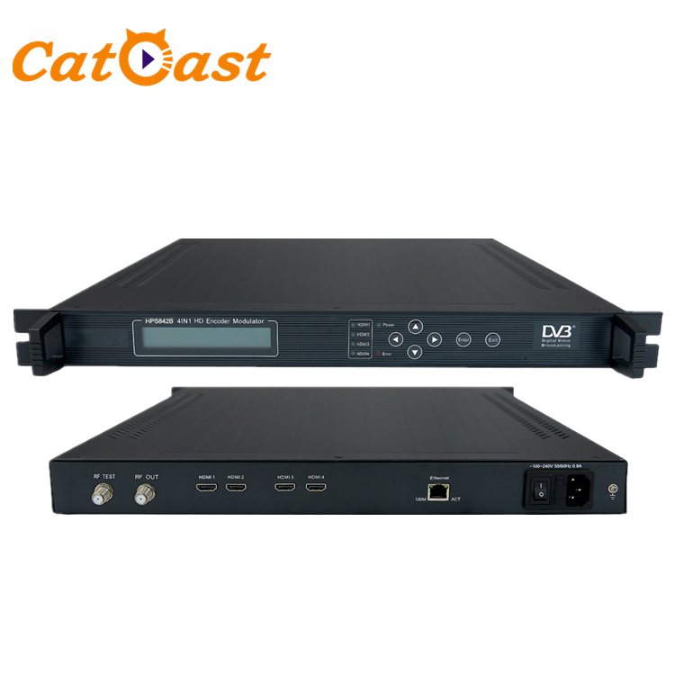Catcast 4 in 1 HDMI H.264 Encoder DVB-T RF Modulator Kabel TV Encoder Modulator