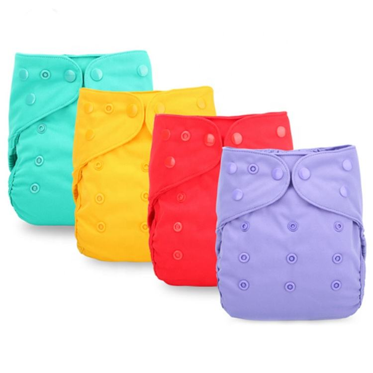One Size Fits Waterproof Pul Reusable Comfortable Eco Solid Color Cloth Diaper Cover