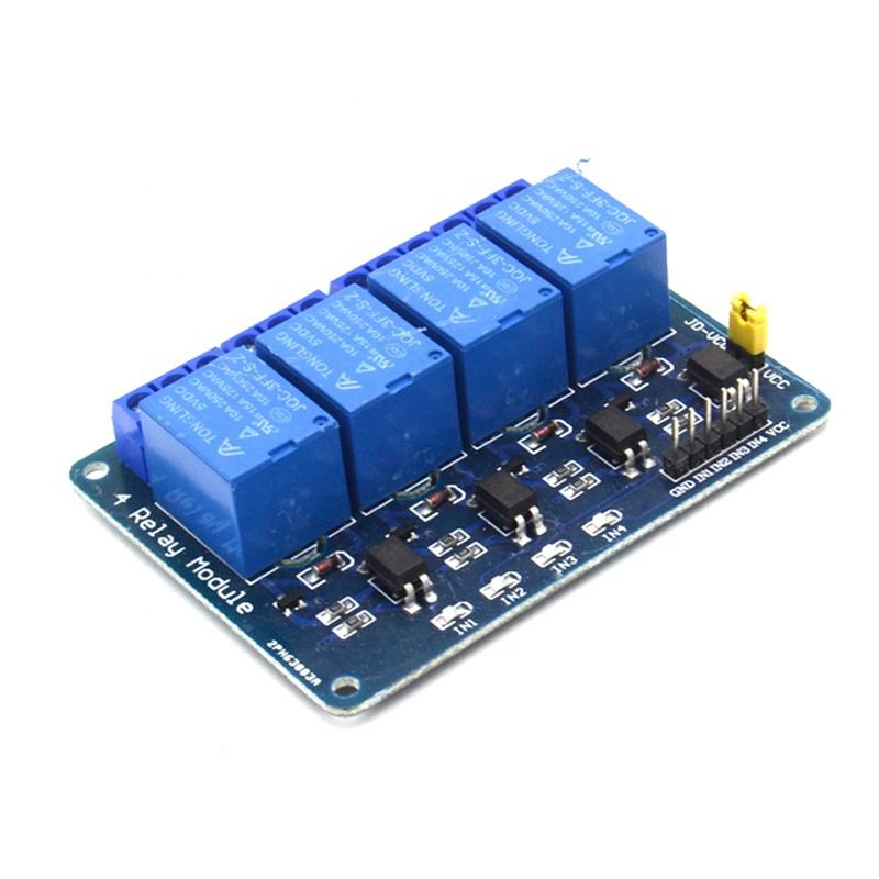 5 V 4 Channel Relay Modul dengan Optocoupler