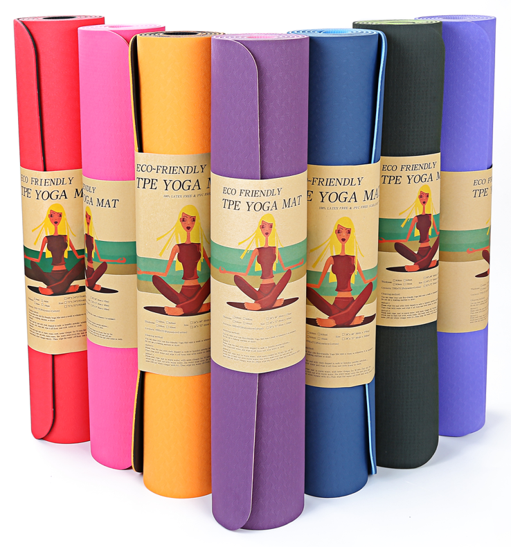 Hampool Custom Print Exercise Bamboo Thick NBR Gymnastics Yoga Mat