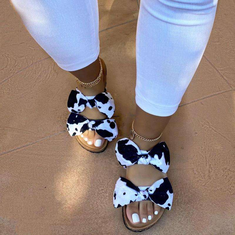 2019 Women Summer Slipper Outdoor Bowtie Beach Shoes Female Slides Slip On Women's Platform Flats Ladies Casual Hemp Footwear