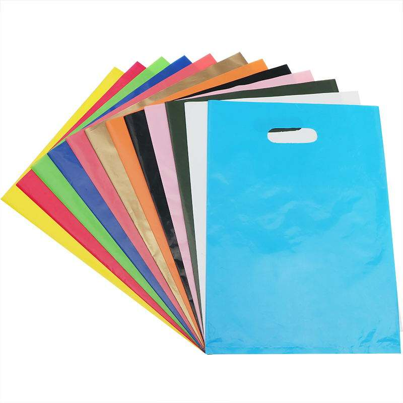 Wholesale Die Cut Handle Eco-Friendly Custom Design Shopping Gravure Printing Groceries Plastic Bags With Logo