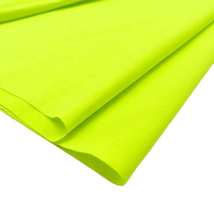 china supplier oeko-tex eco-friendly polyester recycled lycra swimwear fabric solid dyed hangtag brand yarn jersey knit fabrics