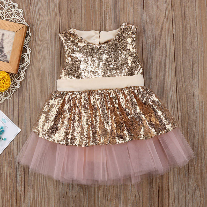 Super Sweet New Style Baby Girl Party Dress or Princess Style with Sleeveless for Summer