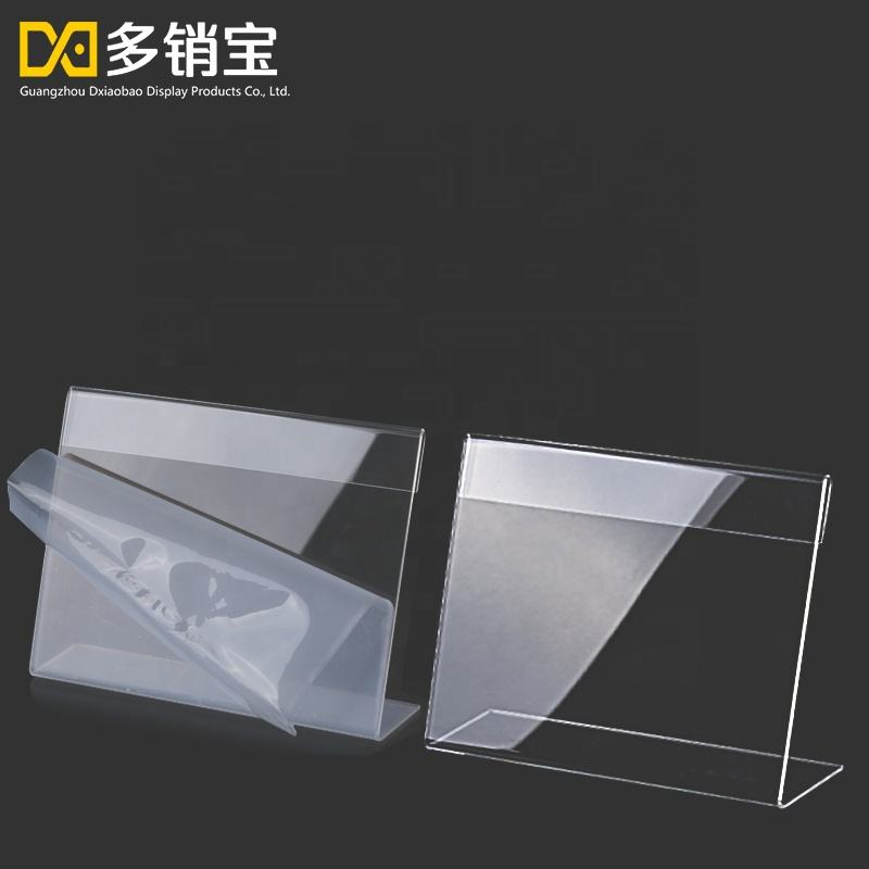 Acrylic card holder Desk sign holder menu holder