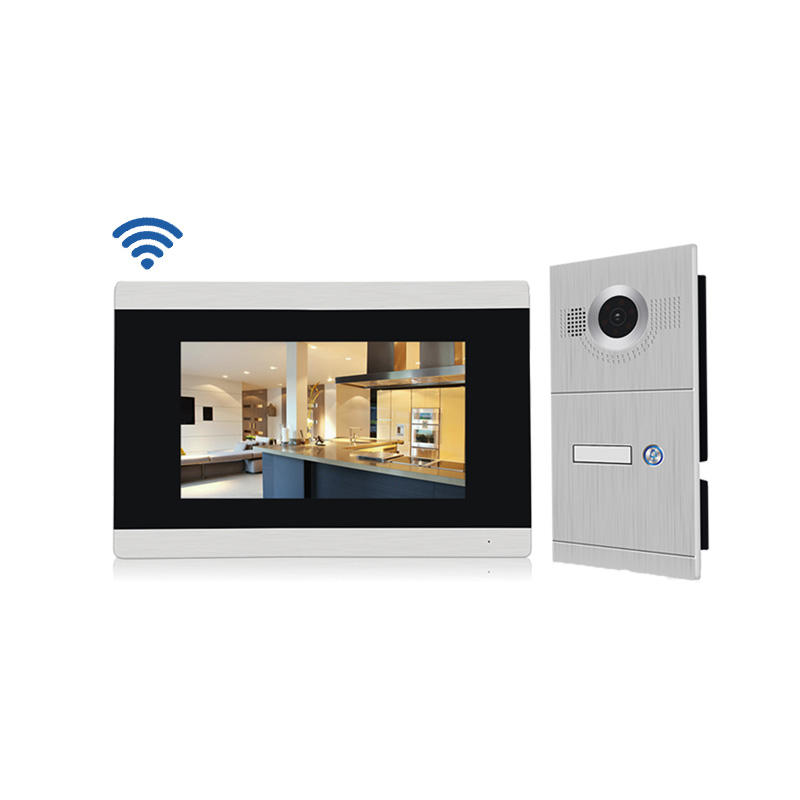 Aluminum Alloy Panel Room To Room Intercom System connect with Up to 6 phone apps For 1-Apartment
