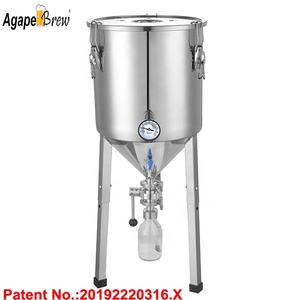 60L Craft Beer Fermenter Conical Fermenter Beer Fermentation Tank For Homebrew Beer Brewing With Yeast Tank Chiller