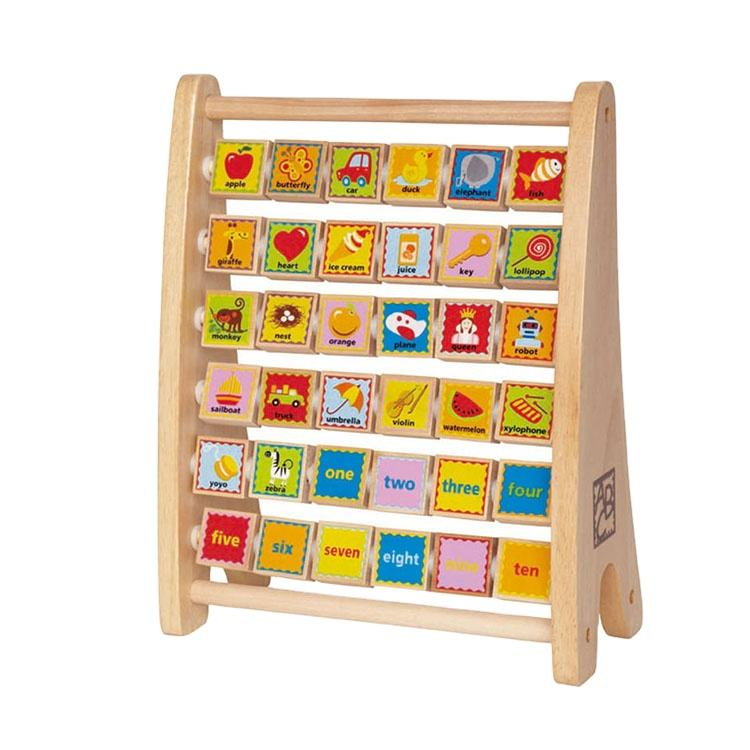 Cute design customized children Hape Hot new products high quality wooden toys kids learning Toys Math Abacus