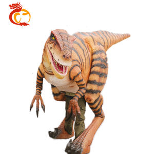 Custom Wearable Life Size Realistic Dinosaur Costume For Show