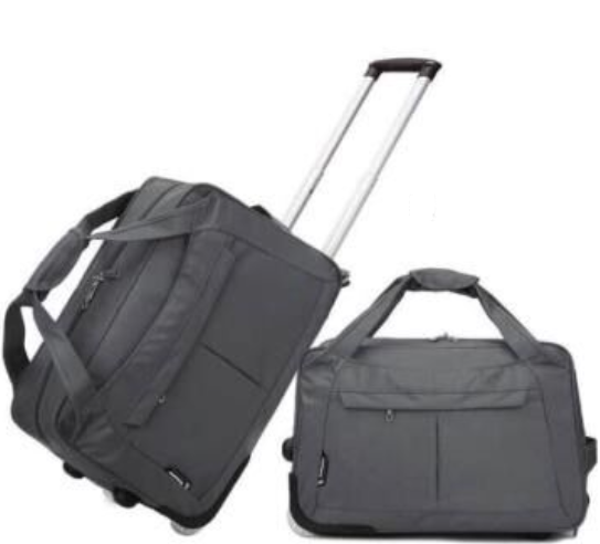 OEM Logo Custom Made Portable Foldable 600D Trolley Luggage Bag