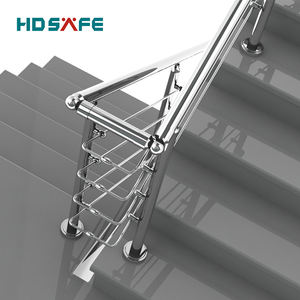 Indoor stainless steel stairs  handrails stainless steel porch post