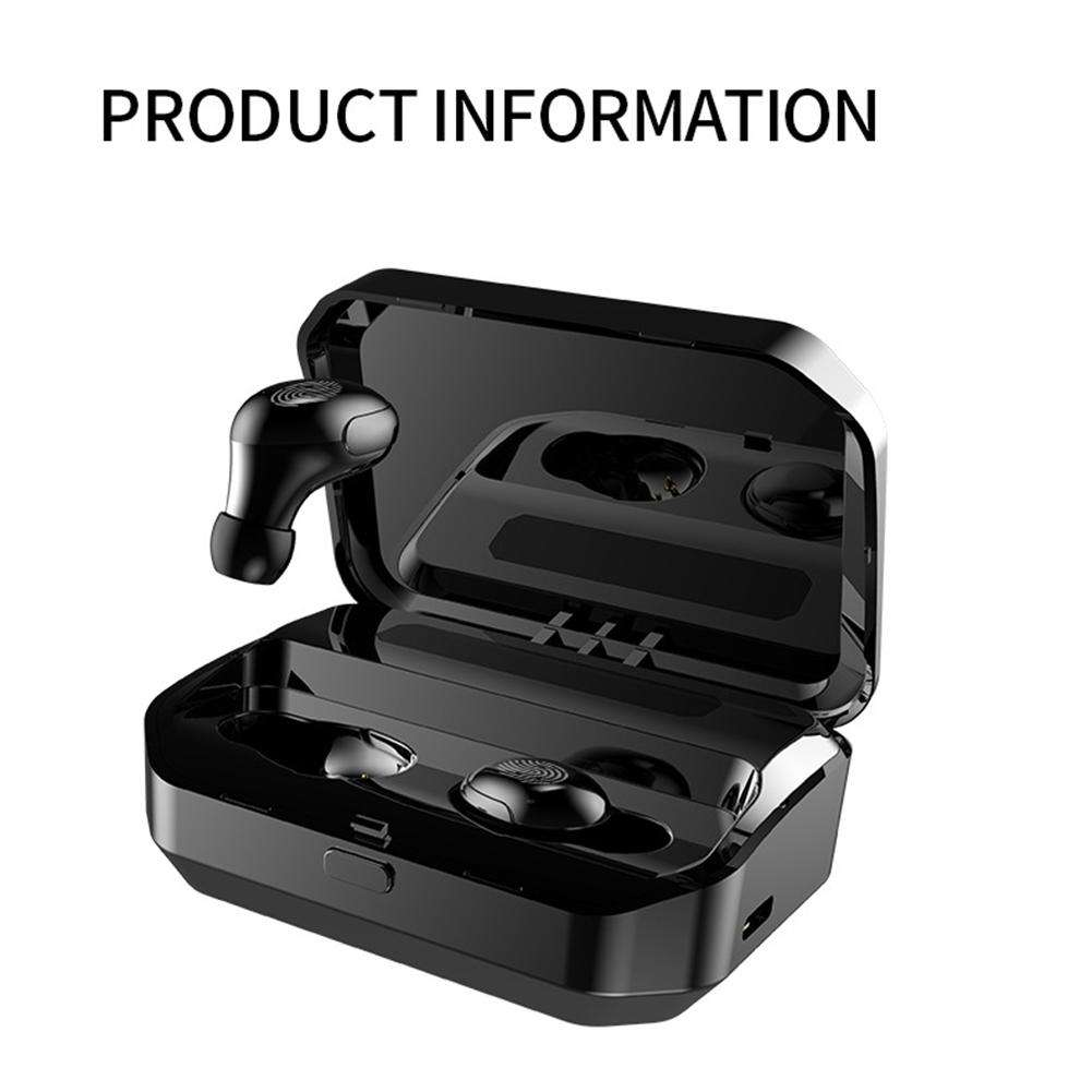 TWS Bluetooth Wireless Headset 5.0 Stereo In-Ear Sweat-proof Earphone LED Display With Portable 2000mAh Charging Box 5W Speaker