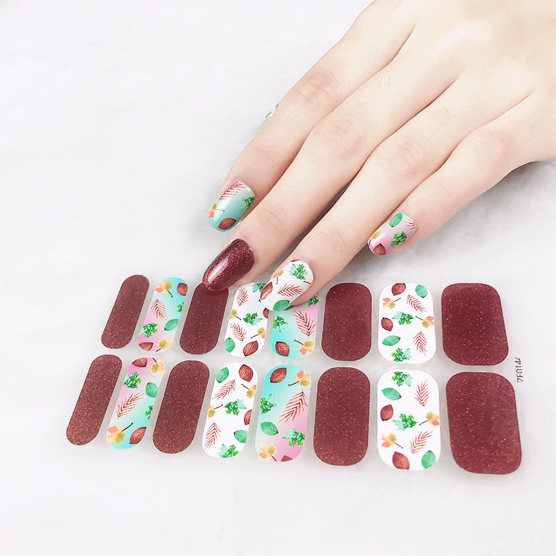 Beautysticker Factory direct new design nail stickers new entries cartoon/ animal/ Maple leaf patterns 2d nail art