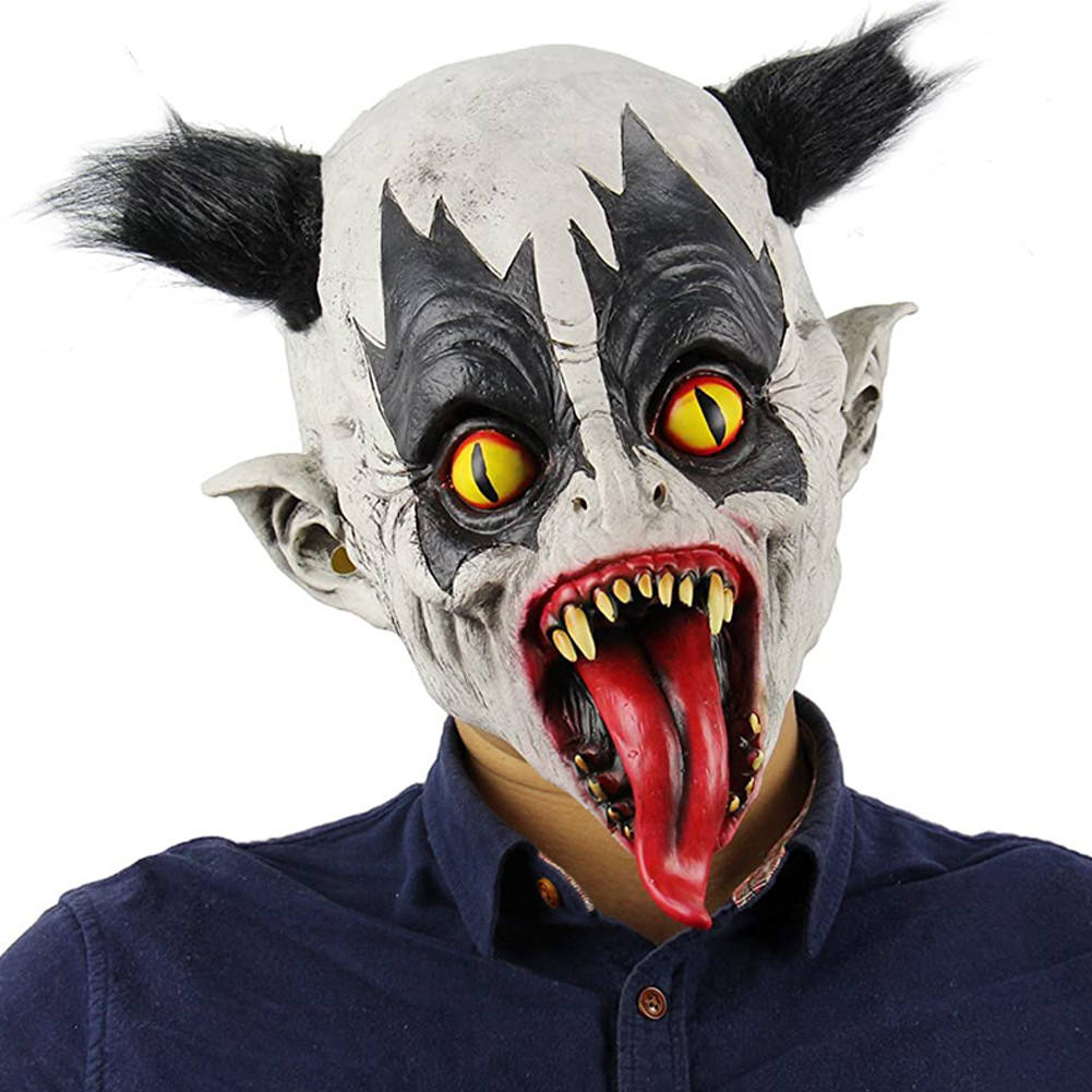 Halloween Mask Scary Bat Animal Latex Mask Headgear Cosplay Props Party Costume Other festive decorations and supplies