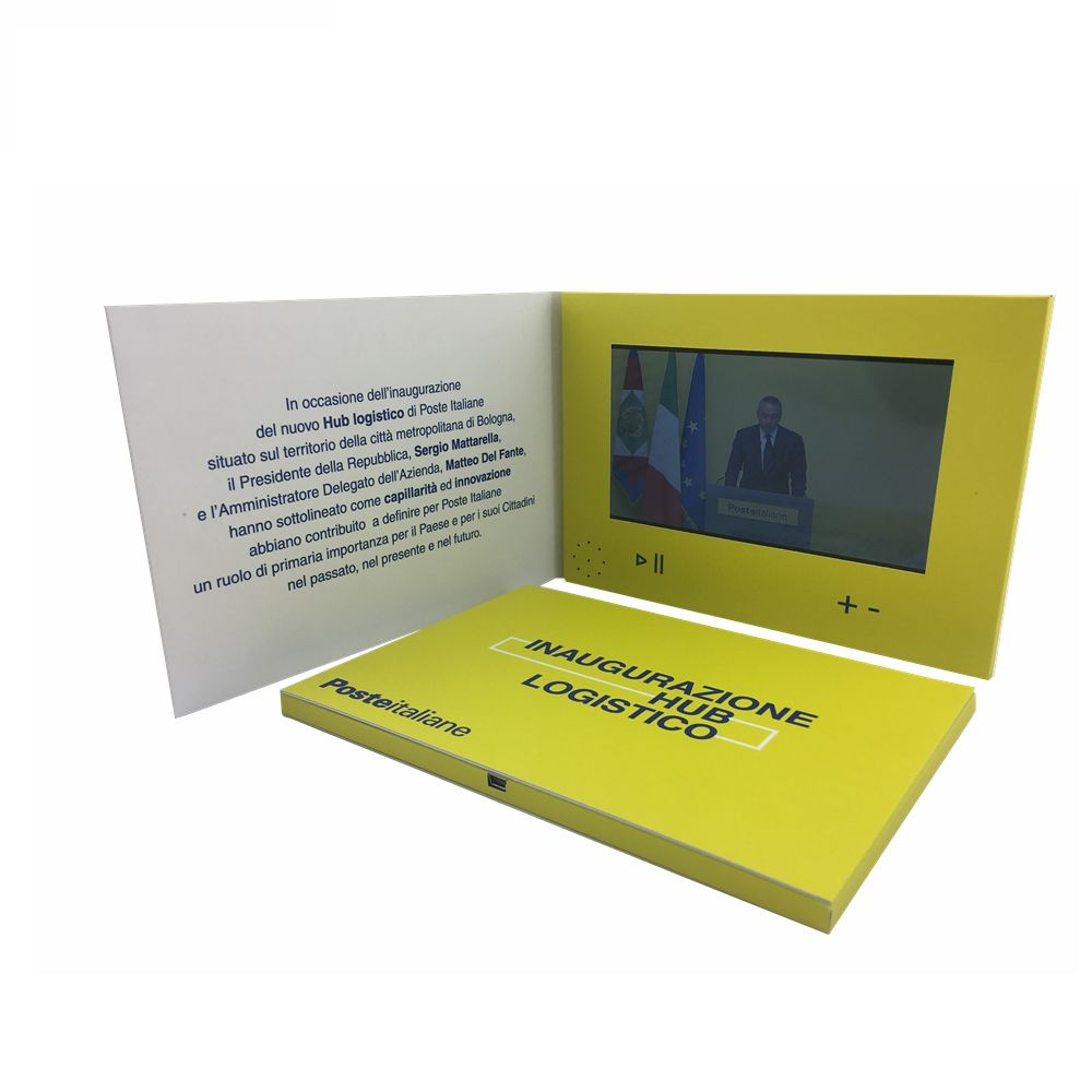 Superior quality paper media player 7 inch lcd screen mini video booklet printing promotional video brochure