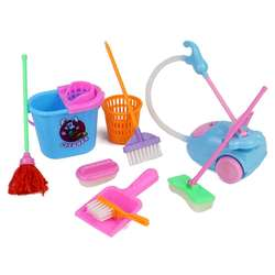 9Pcs Children Pretend Play Toy Kids Cleaning Play set