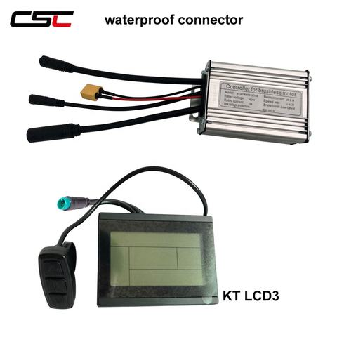 500W Brushless gear  dual mode 6 mosfet Electric bike KT Controller 36V 250W
