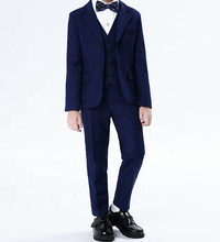 2019 new style dark navy TR fabric slim fit party wear 3 pieces baby boy wedding suits for children