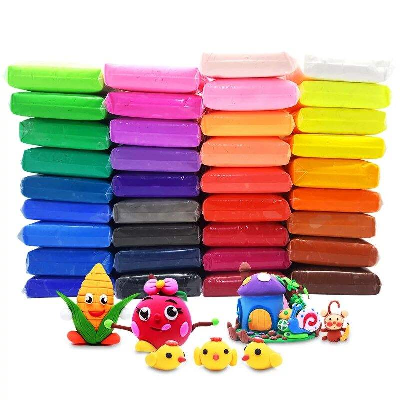 36 Colors Non-toxic Self Sealing Bag Air Dry Polymer Super Light Clay
