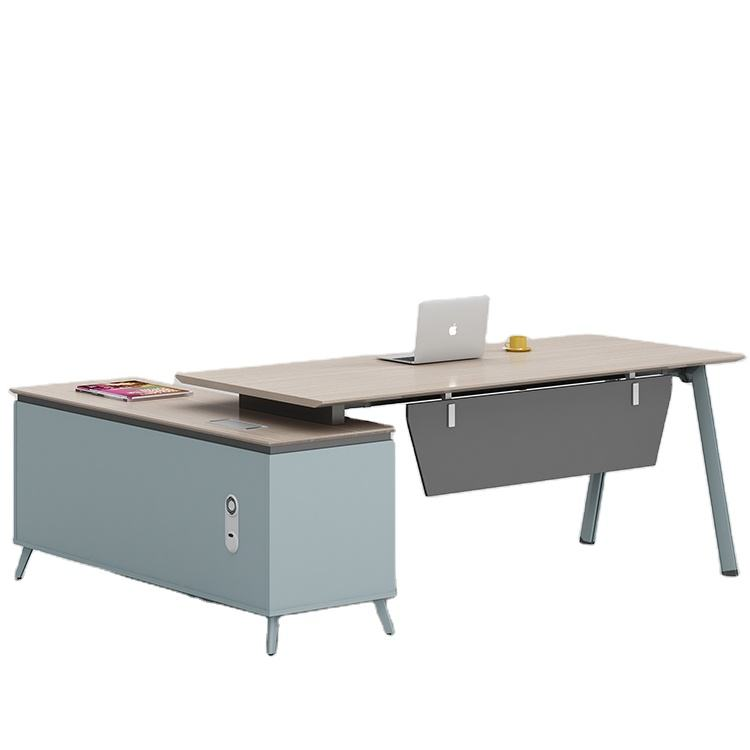 General Manager Office Furniture Unique Executive Desk with Stainless Steel Legs