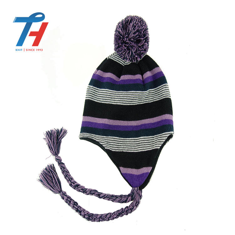 Korean Knitted Wool supplier newly design winter knitted kids wool caps