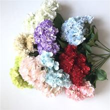 E-1128 Hot Sale Artificial Silk Hydrangea Flower Wedding decoration