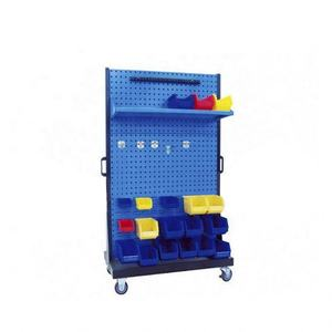 Workshop garage tool storage display rack movable tool stand with wheels