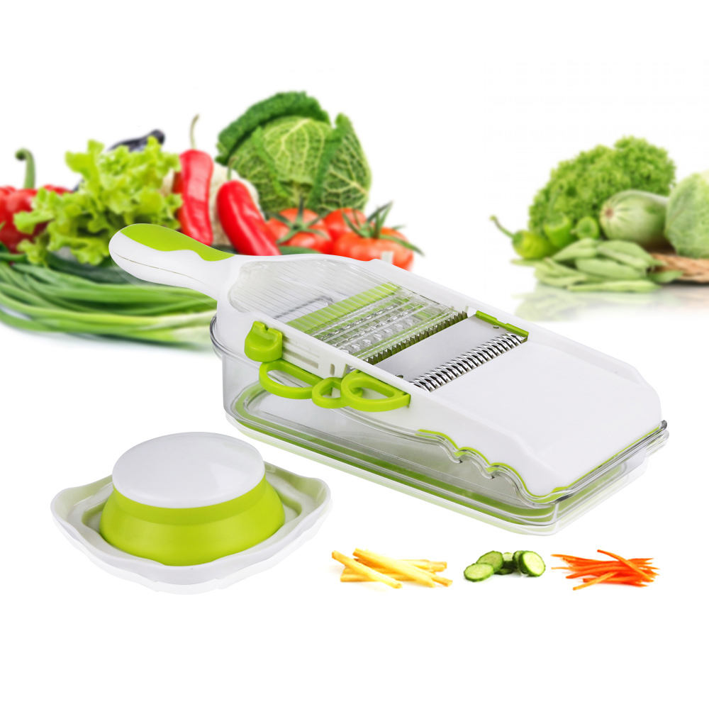 Multifunctional 4 In 1 Household Helper Unique Design Stainless Steel Multi Blade Best Magic Manual Vegetable Kitchen Grater