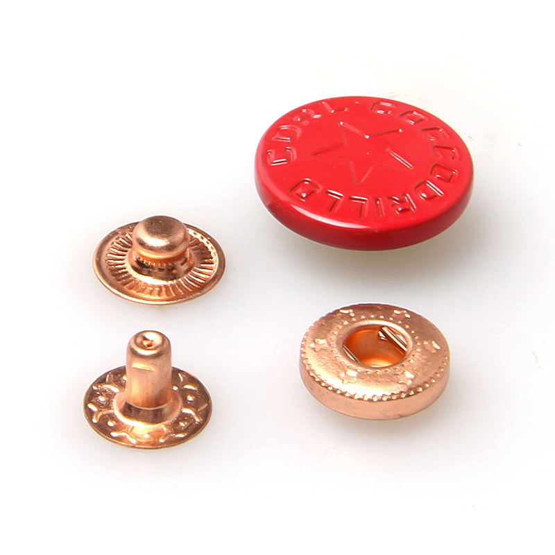 Shenzhen City spring snap button with paint color for clothing