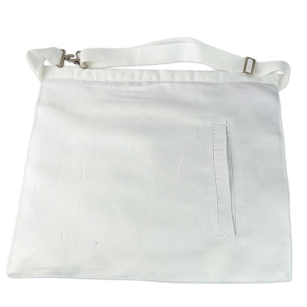 Entered Apprentice Masonic White  Cloth Apron