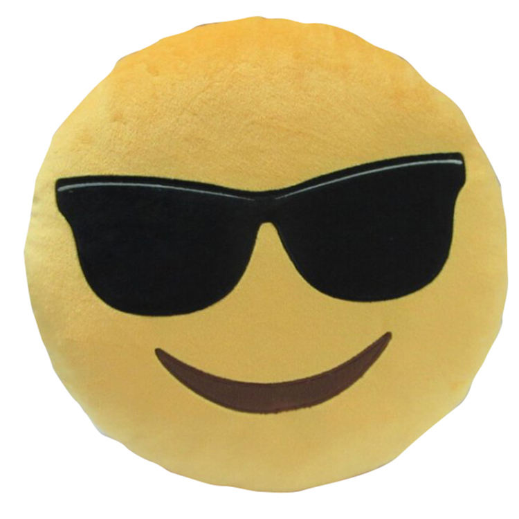 [ Plush Pillow ] OEM Custom Plush Material Stuffed 30cm Emoji Pillow Plush Emoji Pillow Stuffed Toys/Emoji Smiley Emoticon Round Cushion Home