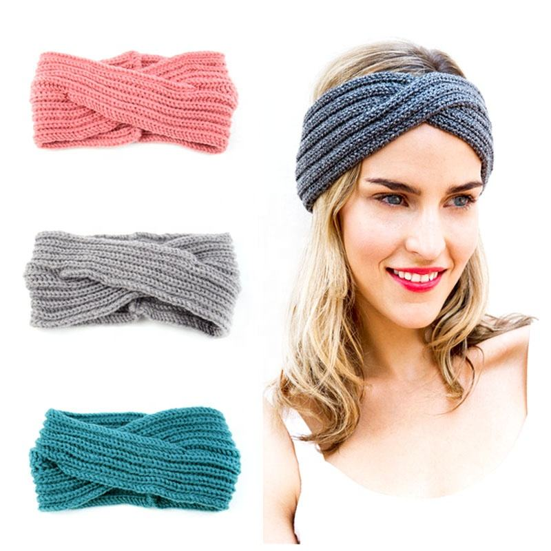 Fashion Wool Hair Band Winter Warm Headwrap Knitted Headband For Women