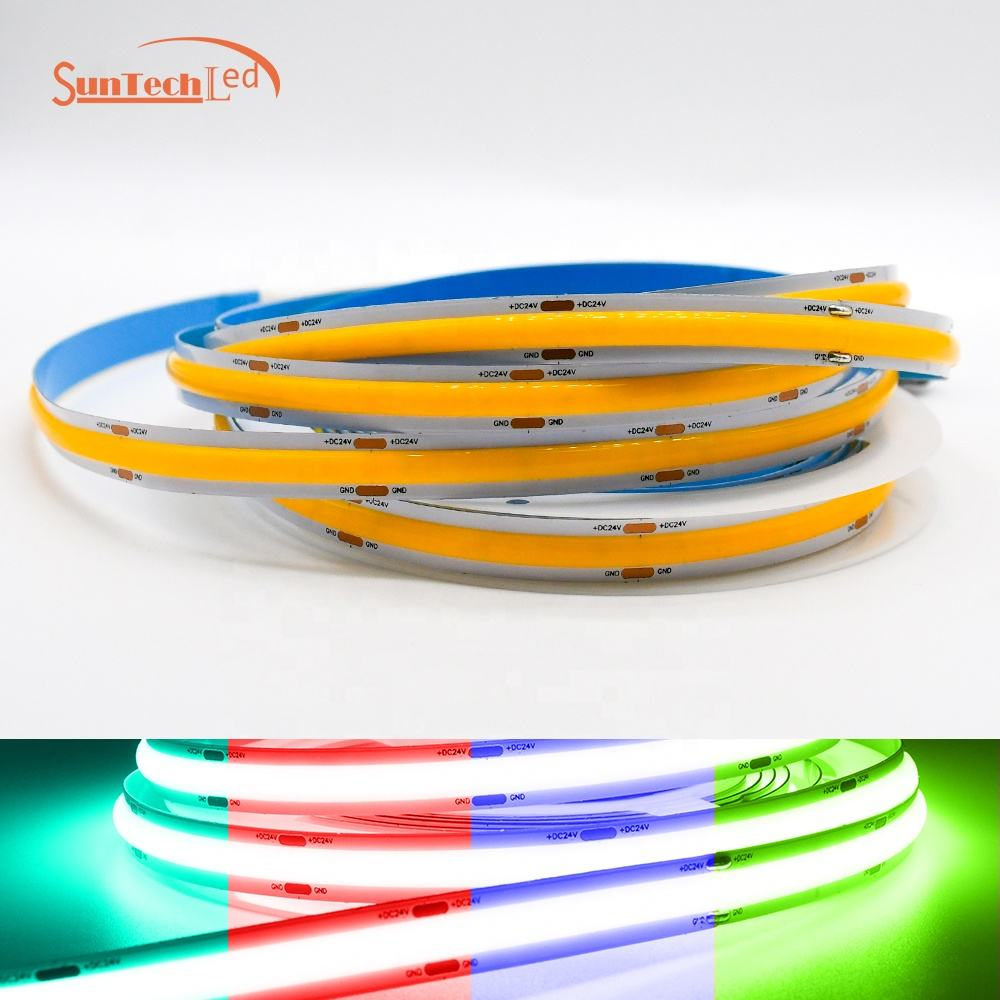 Factory Direct 528D 24V 10MM IP65 Supply Waterproof High Brightness casing Cob Led Strip Light