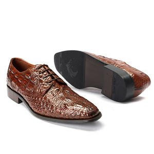 Formal Office Party Wedding Fancy Loafers Pure Cow Leather Mens Dress Shoes Alligator