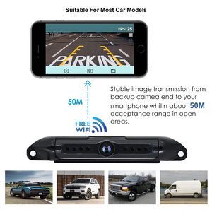 wifi APP phone car reversing aid waterproof night vision rear view wide angle AHD car rear view reversing backup camera