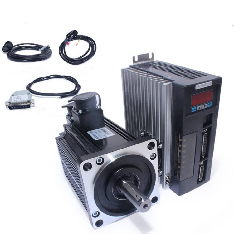 220V 2KW 2000W 2500RPM 7.7N.M. Single-Phase AC Servo Motor 130ST-M07725 Matched Driver AASD-30A