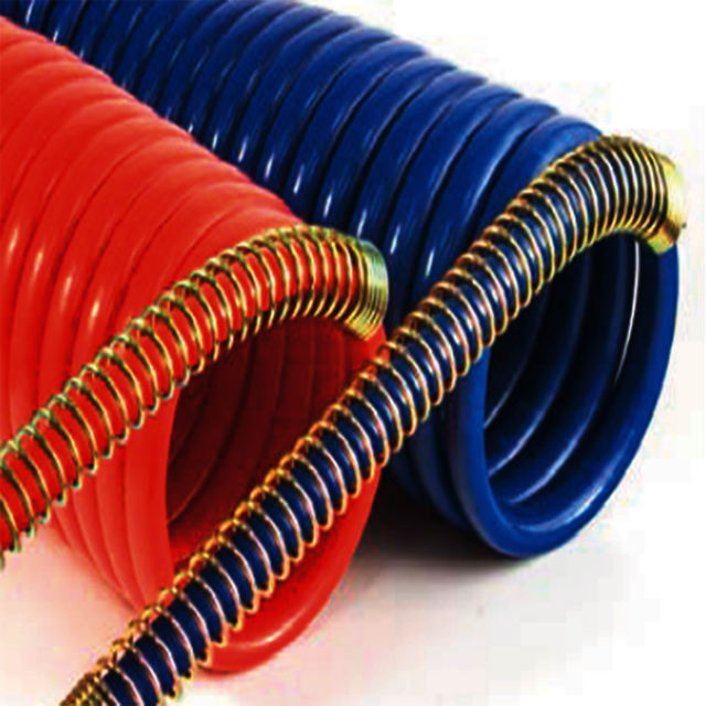 Truck Coiled Nylon Air brake Hose Red/Blue Set SAE J844 sprial air hose