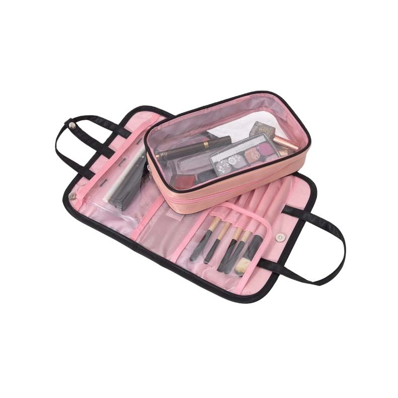 Yaeshii Wholesales Foldable OEM Travel Toiletry Hanging Waterproof Clear Cosmetic Bag With Handle