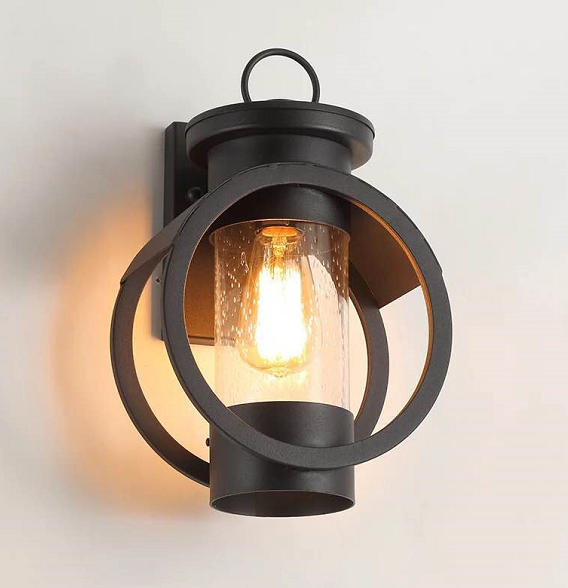 Vintage Outdoor Wall Lights Waterproof Mini Style Retro Country Flush Mount Wall Lights Garden Metal Wall Lighting Fixture