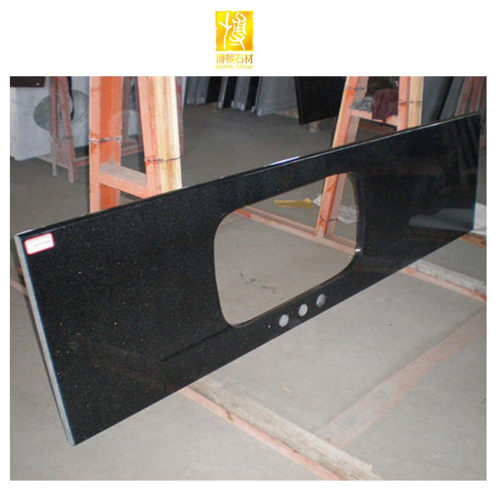 Hot selling Price marble alternative granite table black galaxy granite