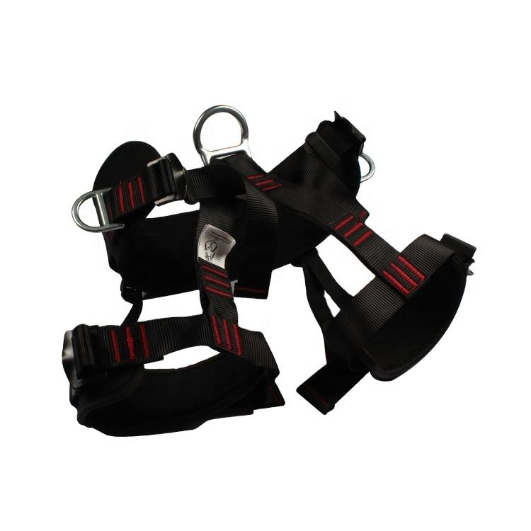 CE certificate fall arrest tree climbing safety half body harness