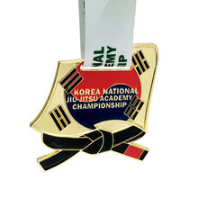 Oem Die Cut Fire Dragon Taekwondo Korea Sport Medal Square For Taekwondo