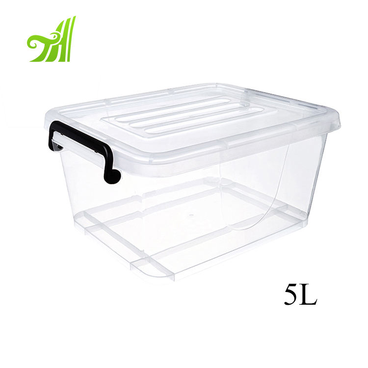 5l-130l Hot Sale household and office use clear plastic storage box with lid