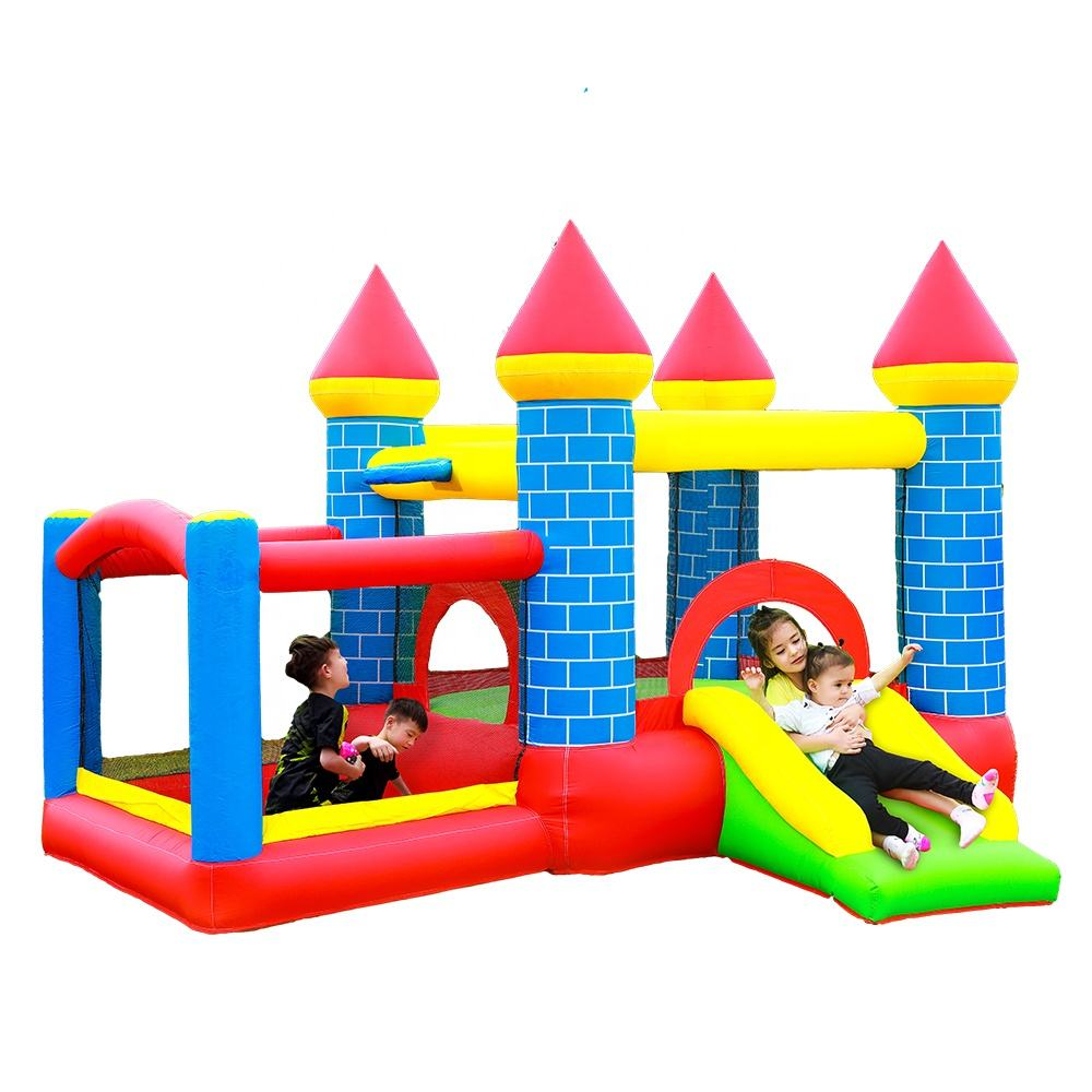 SS62064 Wholesale Cheap Kids Party Inflatable Bouncy Castle Prices Small Inflatable Jumping Castle with Slide